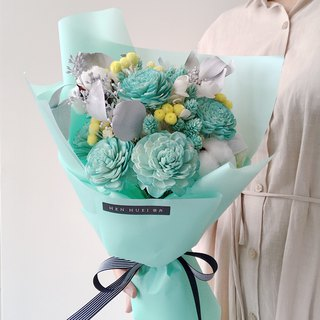 Tiffany Green Dry Bouquet – Dry Flowers, Bouquets, Valentine's Day, Marriage