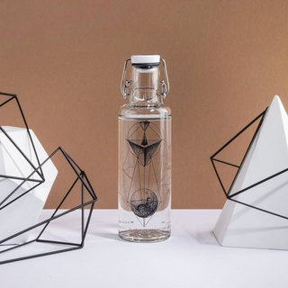 Soul glass water bottle 600ml / geometry