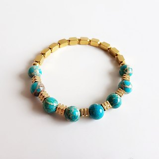 [Gem series] blessing • natural ore imperial stone brass bracelet