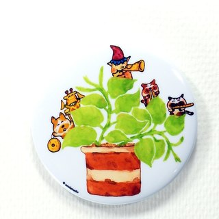 Evergreen Carnival / Laughing Smilehello Illustrator Log Badge Pins