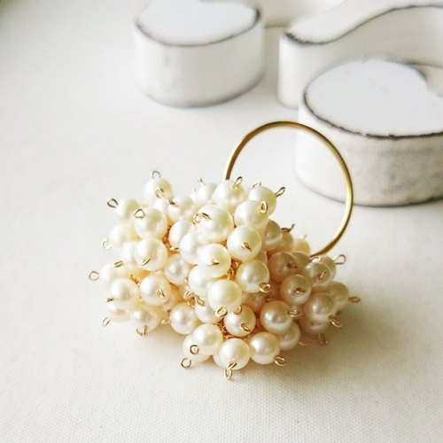 14 kgf ♡ AAA volume pearl ring # 13