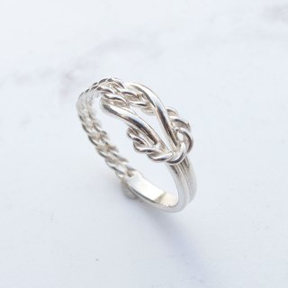 Big staff Taipa [manual silver] flower travel × sterling silver male ring