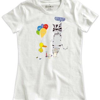 Classic white short-sleeved T-shirt_We are friends, are we?(Duck version)(Female M out of stock)