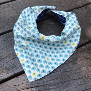 Fashion scarf*Blue elephant*Stereo triangle bib