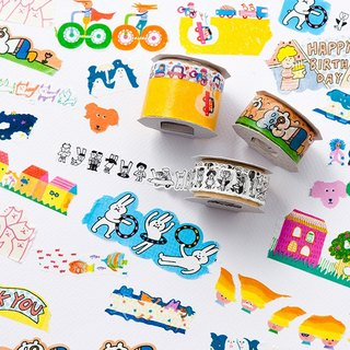 Iroha - Wide Masking Tape - Crazy Cat