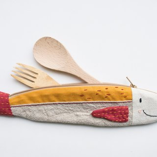 Travelling Tuna cutlery pouch - Kuning