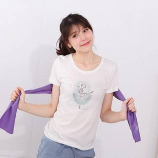 珂之珂芭蕾 | Don Quixote Cupid Short Sleeve Ballet Round Neck T-Shirt