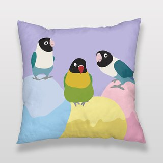 Peony parrot ice cream pillow