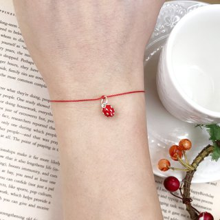 *Le Bonheur Line Happiness line*Strawberry on strawberry cake on sterling silver Popular models / Red Rope Red Line Bracelet Bracelet Line The most cherished person The most important thing