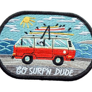Forest & Waves Embroidery / Surf Wagon
