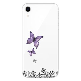 Purple Butterfly - Mobile Shell / Drop / Air Shell / Customized Handwriting + Plus