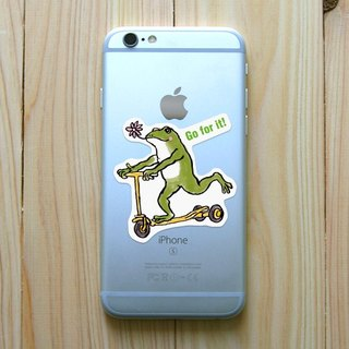 Sticker frog coaster