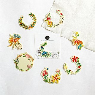 Mstandforc Wreath Big PVC Stickers (8 pcs)