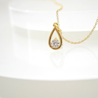 Necklace/Drop Zirconia Necklace