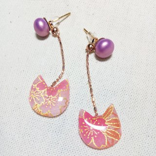 Breeze cat earrings