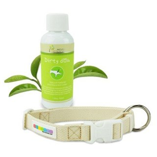 Pure natural flea truffle essential oil organic cotton collar group - XL number organic limited section