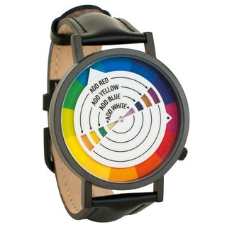 Color wheel art neutral watch