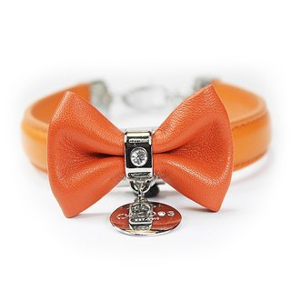 S leather collar Single crystal