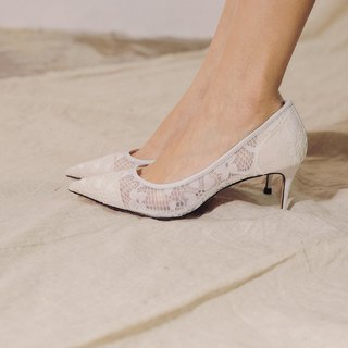 Cloth flower lace simple hollow shoes white