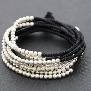 Wrap Beaded Bracelets Woven Silver Beads Bracelets Anklet Necklace