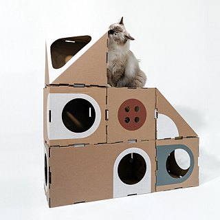 Cat Room 2.0-Building Carton Cat House (Latest Seven Pieces)