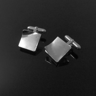 ReShi / fingerprint square cufflinks / 925 sterling silver / fingerprint silver / custom handmade / Valentine's family gifts