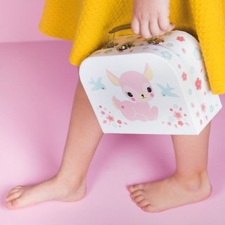Netherlands a Little Lovely Company – Healing Pink Fawn Portable Storage Box