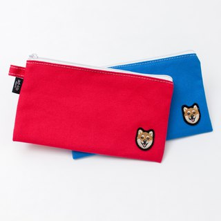 【Pjai】Medium Pouch - Red//Blue (PU299)
