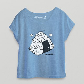 *Mori Shu*Rice Ball Bubble Sheep T-shirt (Twist basket color)