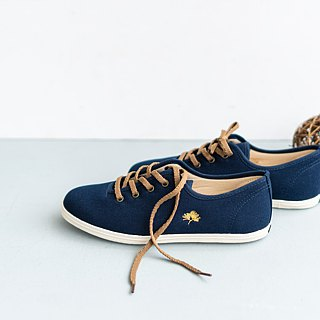 Bike Day | Kyoto Imperial Garden Pine Needle. Tianzang Blue Floral Shoes. Golden Embroidery. Leather Insole