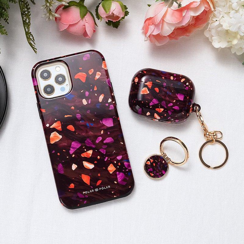 iPhone / Samsung 防摔手機殼 火辣水磨石