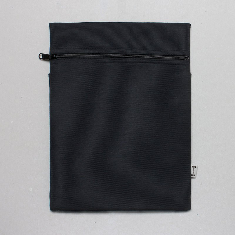 Notebook set simple and stylish 12.5 吋 pen electric sleeve A4 file bag - human black