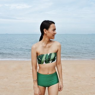 Two Piece Tropical Foliage Swimsuit