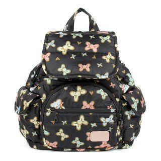 Tibetan age tweeted cute full 【Super admission does not set limits】 beam backpack - tweeted black