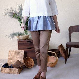 Nine points old pants / deep khaki