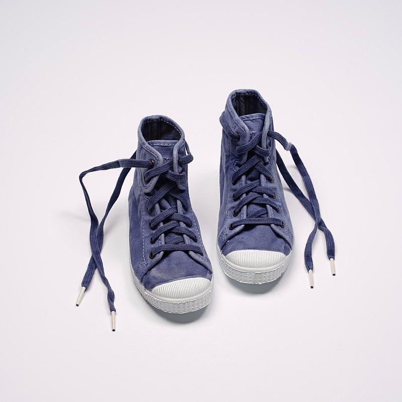 西班牙帆布鞋 CIENTA 61777 90 牛仔藍 洗舊布料 童鞋 高筒