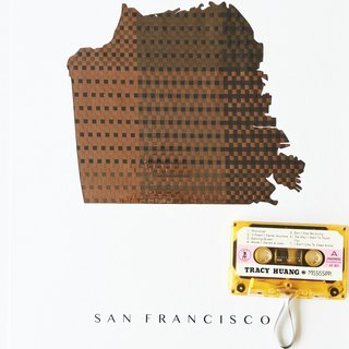 San Francisco City Map cassette poster | Original art | Home decor | Gift |