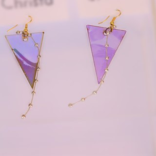 SHOOTING STAR upcycling CD earrings