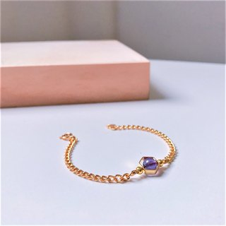 February Planet February Pisces Constellation Planet Brass Gold Plated Bracelet