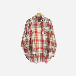 Dislocation vintage / red plaid shirt no.885 vintage