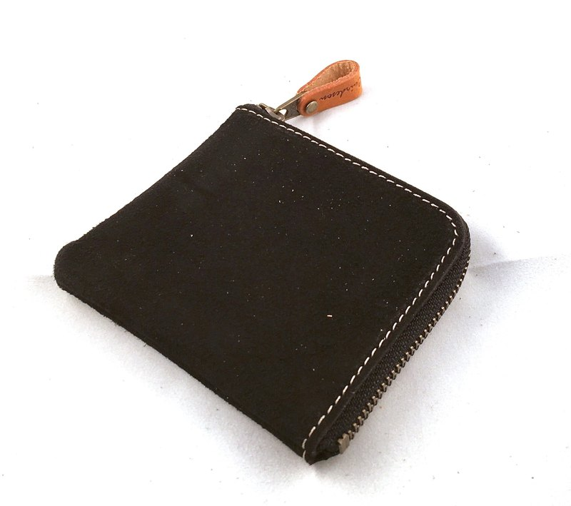 888 BK L zipper coin purse folding wallet coin case pouch Tochigi leather suede leather leather Lzipper coin case wallet coin purse pouch Tochigi leather suede leather TOCHIGI leather bra L zip / bid type plan / packing / zero packing / bag / Tochigi leath
