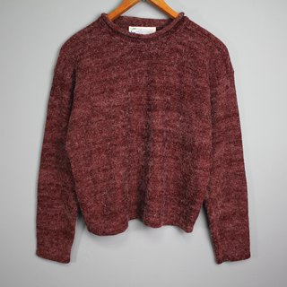 FOAK vintage snowflake dark red sweater
