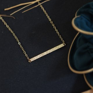 Geometric rectangular textured gold necklace (copper plated 18K gold necklace) :: C% handmade jewelry ::