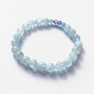 [Ofelia.] Natural Stone Series - Natural Seawater Sapphire x Tianhe Stone x Danquan Stone Bracelet [J101-Margaery] / Crystal