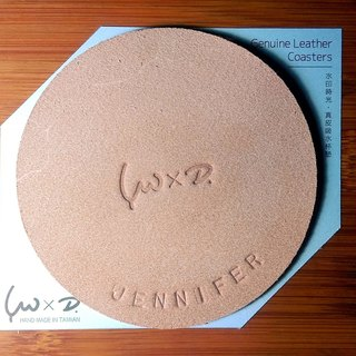 Watermark time / leather absorbent coasters (free English name)