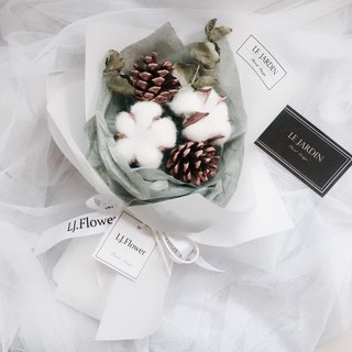 Le Jardin Goblin confession - pure white love cotton pinecone winter dry bouquet Christmas gifts