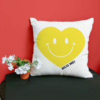 [Valentine 's Day] hug me_YELLOW cotton two - color canvas pillow - home decoration