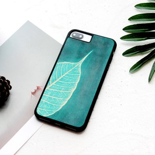 玮 玮 玮 鞣 鞣 鞣 鞣 鞣 鞣 鞣 鞣 First layer of leather bodhi leaf green iphone6 ​​6s 7 8 plus i6 i7 i8 iphone x leather phone case cover surrounded by anti-fall plus word service customization