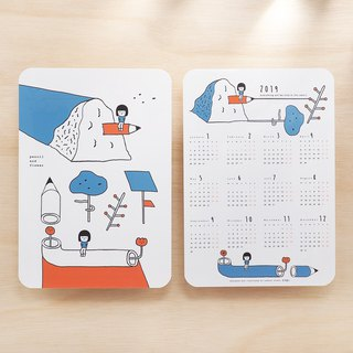 2019 Calendar Writing Mat