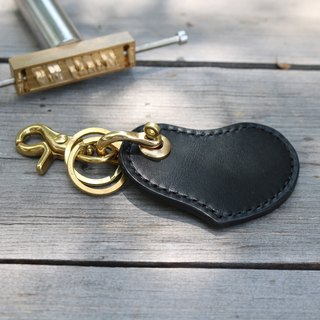 """CANCER popular laboratory"" love key ring - black"